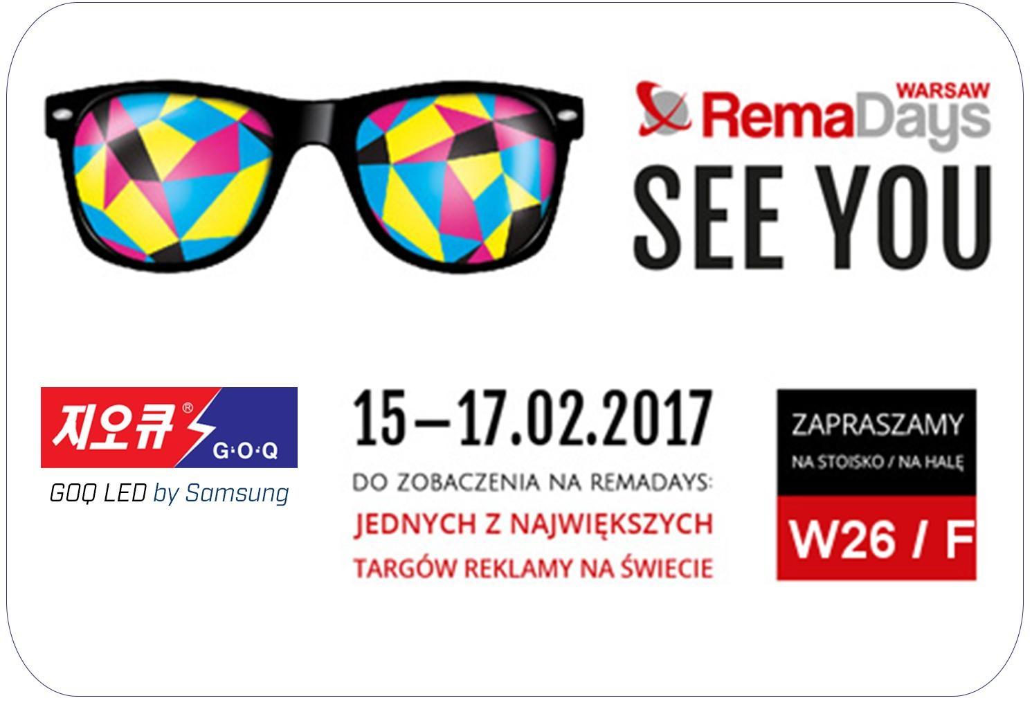 Targi reklamy RemaDays 2017 w Warszawie!